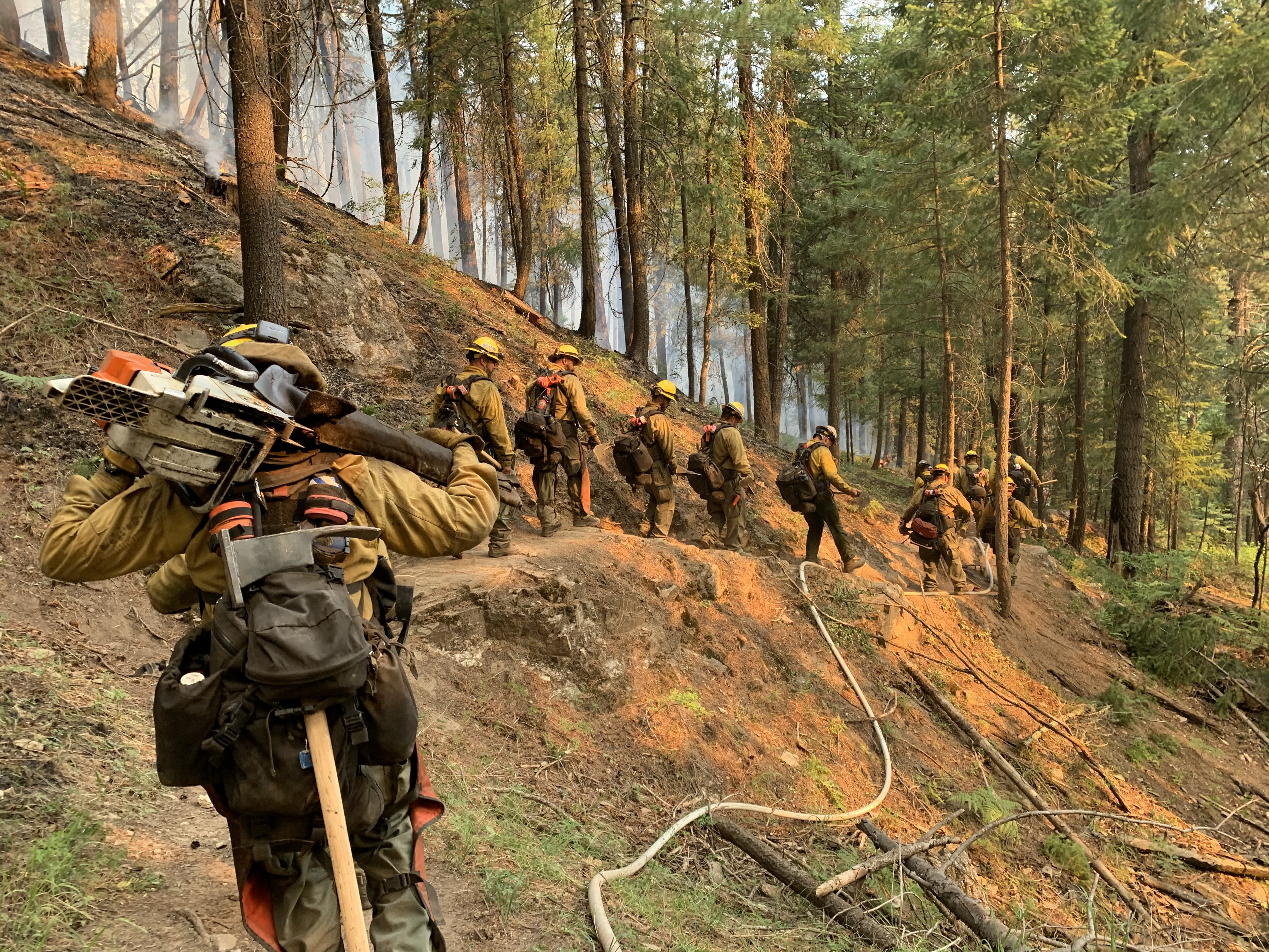 Winslow Crew on Bighorn Fire