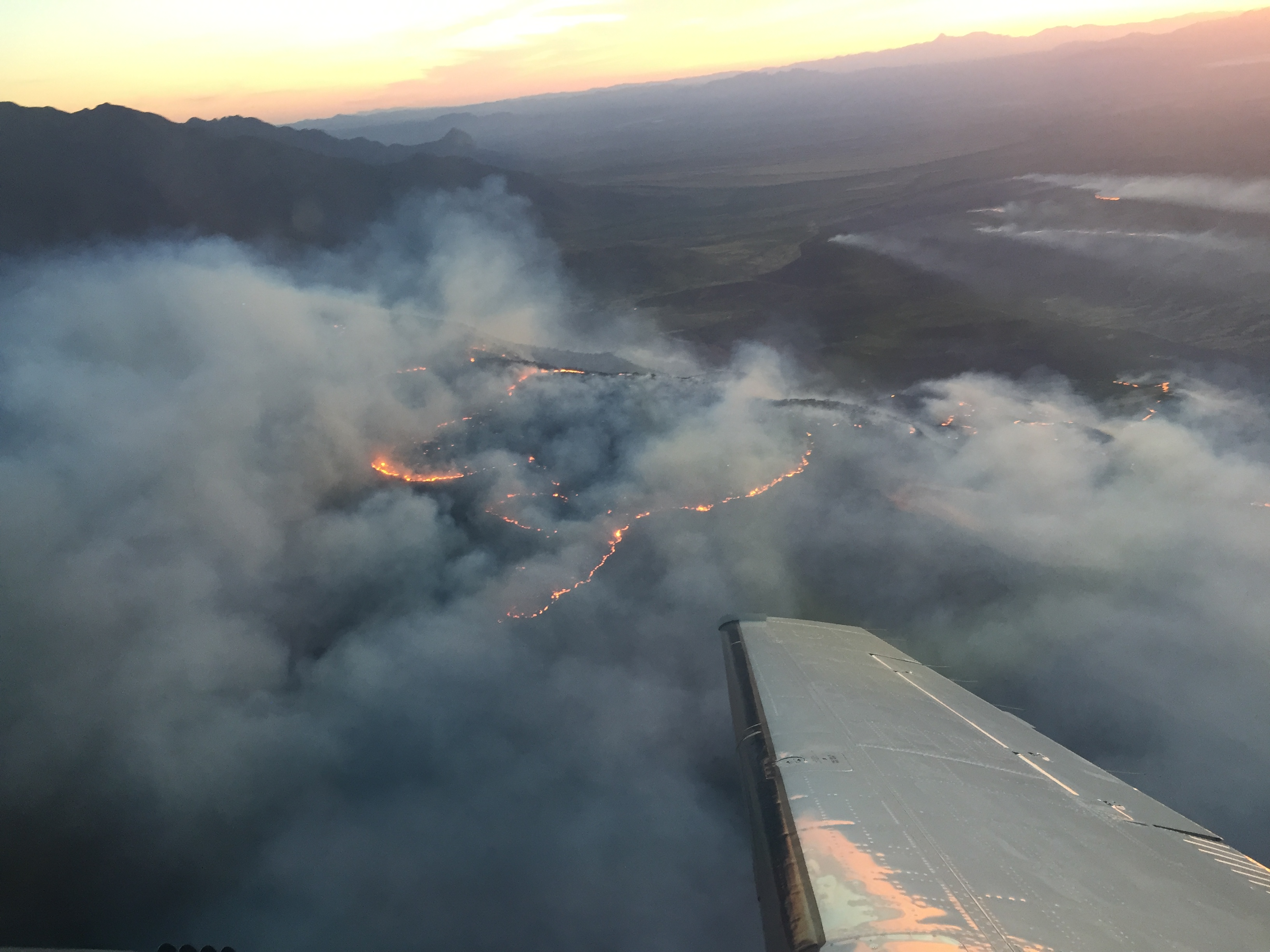 Sawmill Fire Aerial