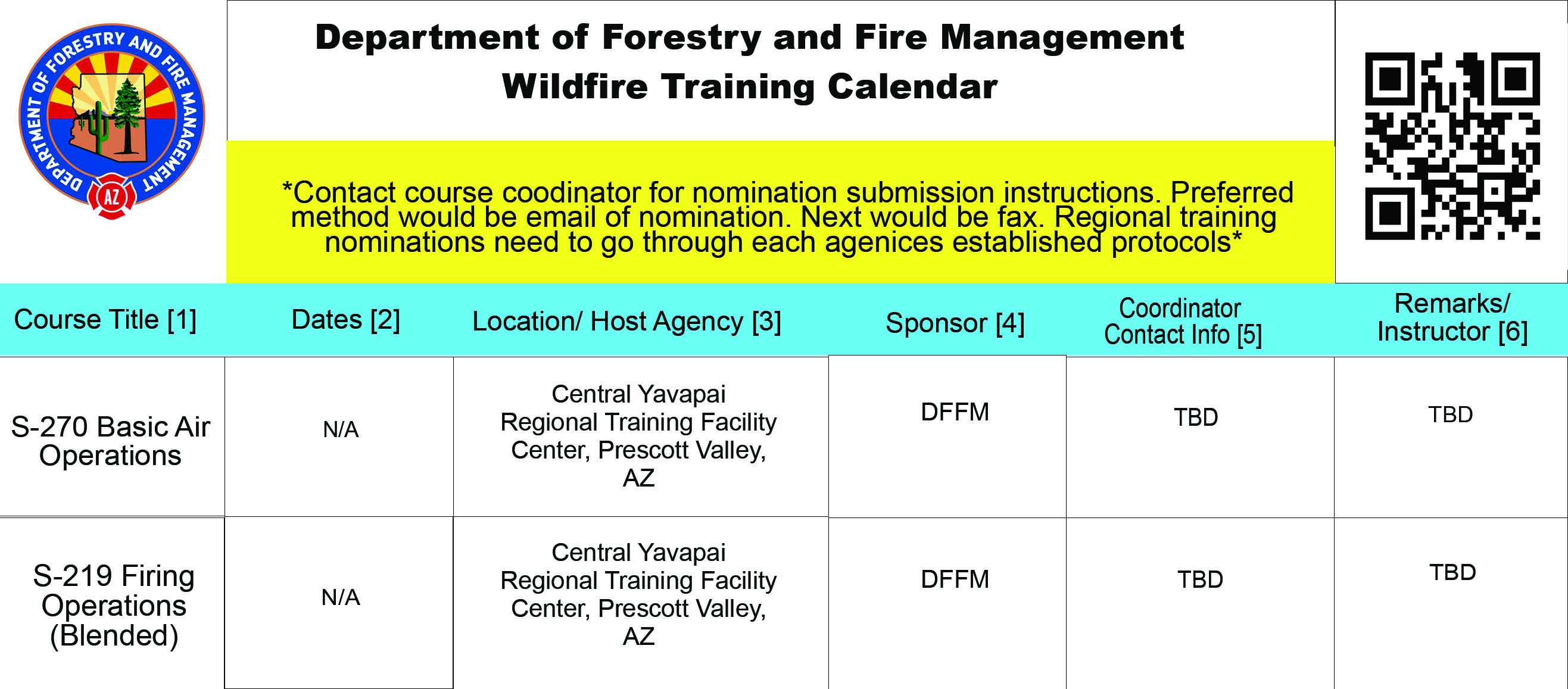 Training Department Of Forestry And Fire Management